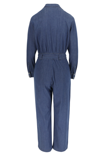 Améline Jumpsuit in lightweigt denim met rugelastiek 2