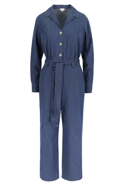 Améline Jumpsuit in lightweigt denim met rugelastiek 1