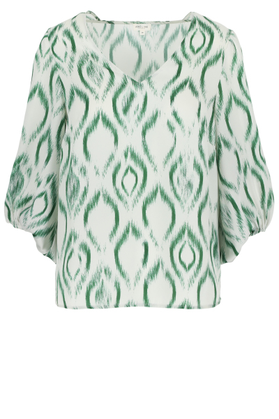 Améline Loose fit blouse met ballonmouwen in batikprint 1