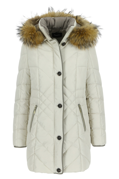 Mayerline Long parka à capuche amovible bordée de fourrure 1
