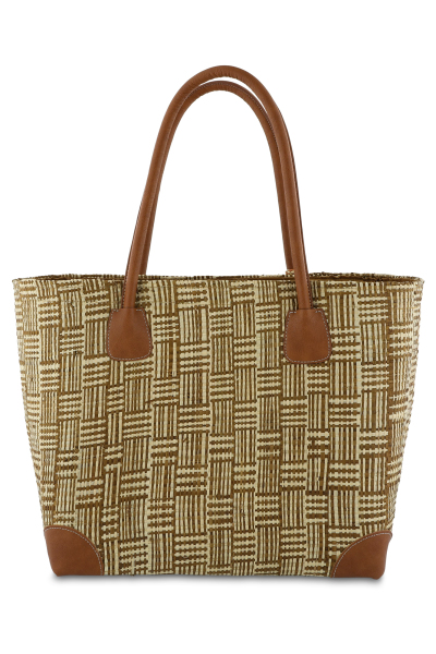 Mayerline Raffia mand met phleater details 2