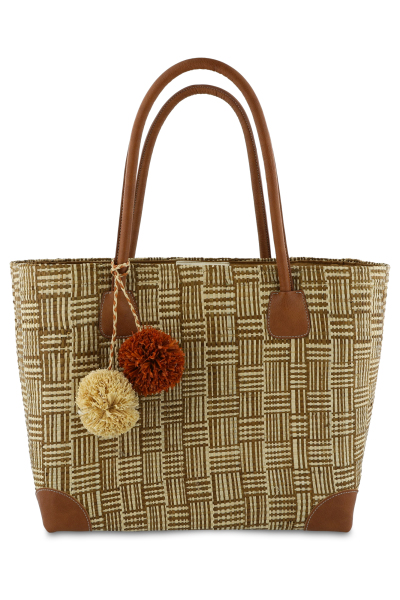 Mayerline Raffia mand met phleater details 1