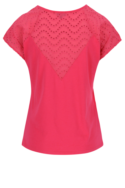 Mayerline T-shirt met broderie anglaise 2