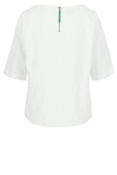 Mayerline T-shirtblouse in jacquard met rugrits 2